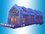 Tweedelige stormbaan voorzien van veiligheidsnetten_