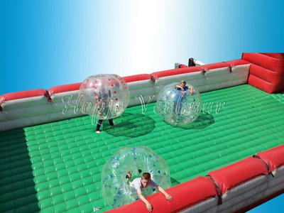 Voetbalboarding met 6 bumbervoetballen