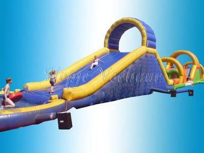 Stormbaan met Tobbedans 32 meter zwembad en bootjes