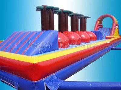 Klimglijbaan met dubbele bounce off baan 28 meter