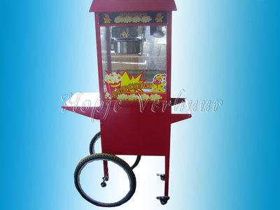 Popcorn machine op wielen