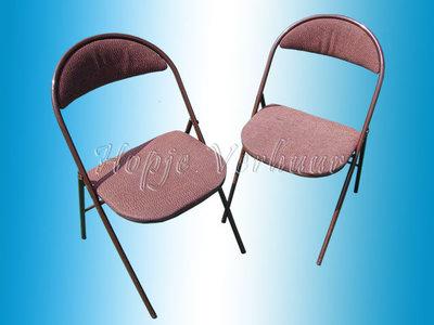 Klapstoelen met stof