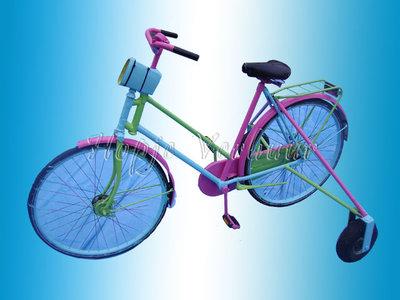 Verkeerd om fiets