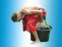 Sponsbroek of waterkakrace -2 stuks met 2 waterbakken_